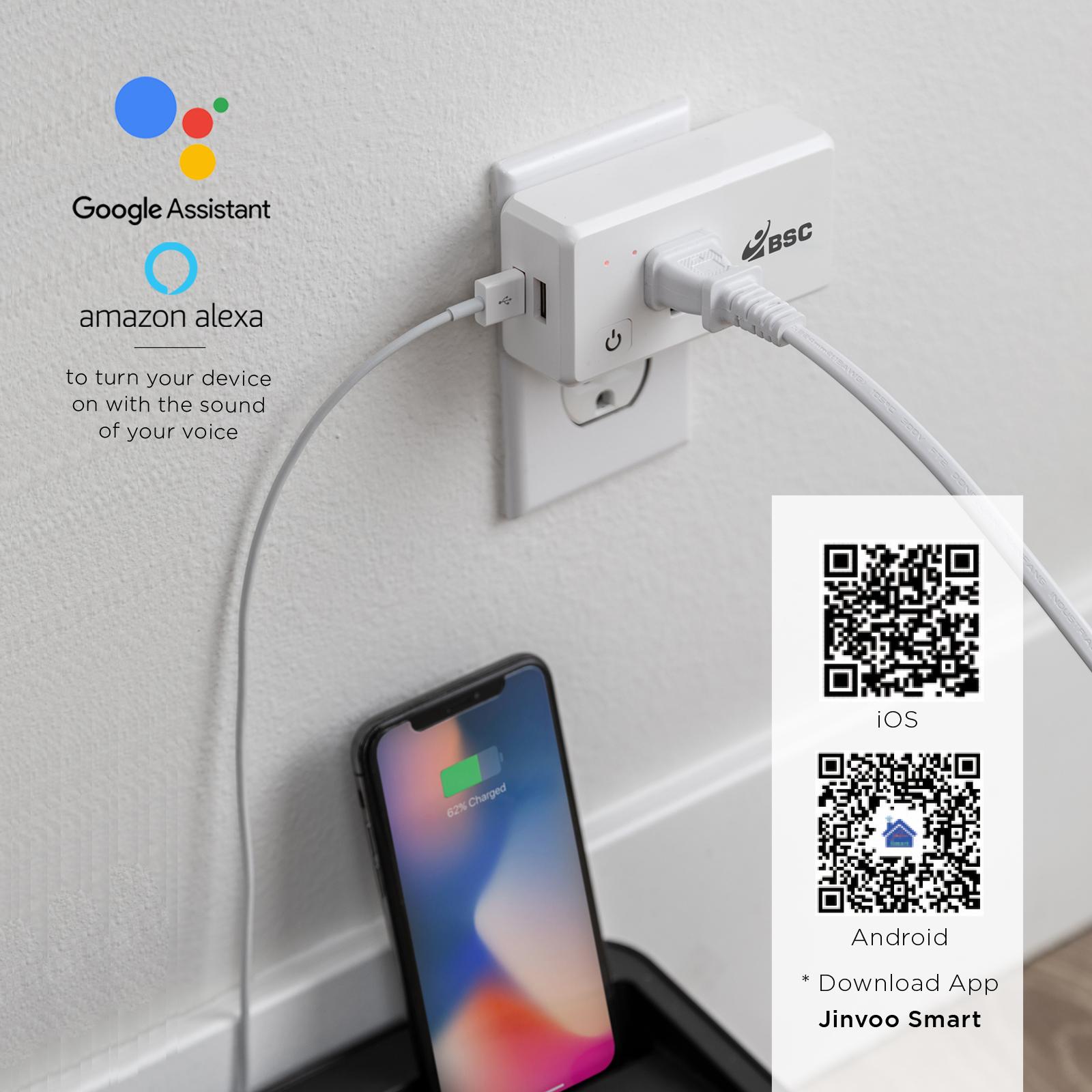 TomaxUSA :: 2018 New :: Smart Plug with 2 USB Ports