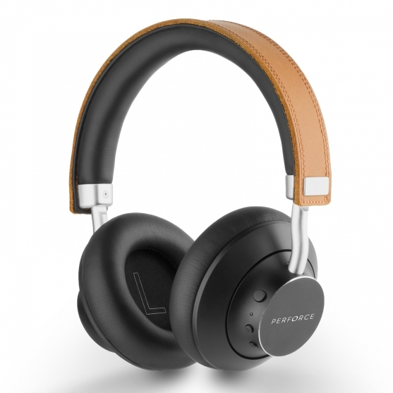 TomaxUSA :: Genuine Leather Headband With Metal Compact Design, Sound Quality With AptX® Audio
